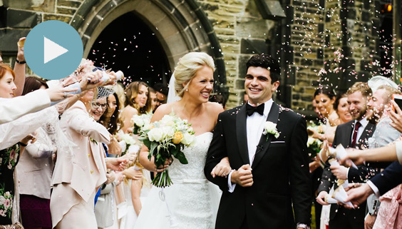 sean and lauren wedding portrait